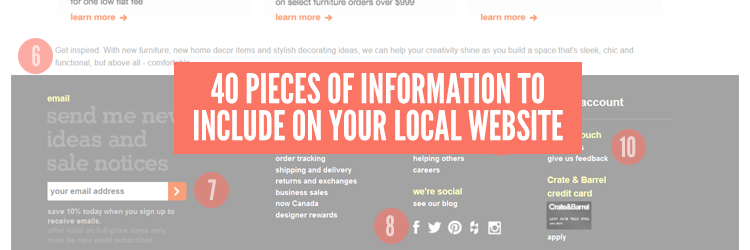 40 Pieces of Information to Include on Your Local Website